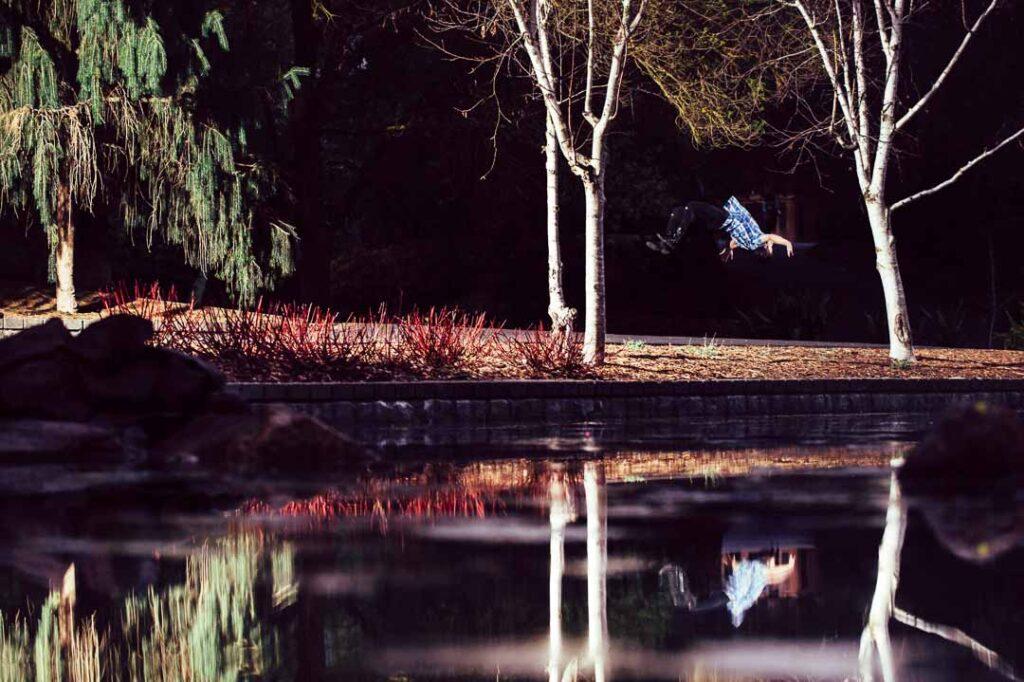 will shurey backflip - gymnastic photoshoot